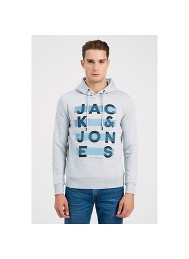 Jack & Jones Sweat Hood Jumbo 12182887-Lgm Gri